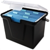 "Innovative Storage Design File Storage Box - External Dimensions: 10.5"" Width x 14.8"" Depth x 10.8""Height - Media Size Supported: Letter - Latching Closure - Stackable - Black - For File - Recycled -"