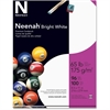 "Neenah Paper Card Stock - Letter - 8.50"" x 11"" - 65 lb Basis Weight - Smooth - 100 / Pack - White"
