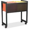 "Safco 5352BL Adjustable Mobile File Cart - 4 Casters - 2.50"" Caster Size - Steel - 17"" Width x 25.8"" Depth x 27"" Height - Black"