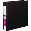 "Avery Durable Reference Ring Binder with Label Holder - 2"" Binder Capacity - Letter - 8 1/2"" x 11"" Sheet Size - 375 Sheet Capacity - 3 x Round Ring Fastener(s) - 4 Internal Pocket(s) - Black - Recycle"