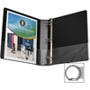 "Business Source Round Ring Binder - 1 1/2"" Binder Capacity - Round Ring Fastener - Vinyl - Black - Recycled - 1 Each"