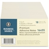 "Business Source Adhesive Note Pad - 3"" x 5"" - Rectangle - Yellow - Repositionable, Solvent-free Adhesive - 18 / Pack"