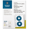"Business Source CD/DVD Laser/Inkjet Label - Permanent Adhesive - 4.62"" Diameter - Circle - Inkjet, Laser - White - 300 / Pack"