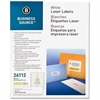 "Business Source Mailing Laser Label - Permanent Adhesive - 1"" Width x 4"" Length - Rectangle - Laser - White - 2000 / Pack"