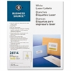 "Business Source Mailing Laser Label - Permanent Adhesive - 1.33"" Width x 4"" Length - Rectangle - Laser - White - 1400 / Pack"