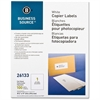 "Business Source Copier Full Sheet Label - 8.50"" Width x 11"" Length - Rectangle - White - 100 / Pack"