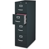 "Vertical File Cabinet - 18"" x 26.5"" x 52"" - 4 x Drawer(s) for File - Legal - Vertical - Lockable, Ball-bearing Suspension, Heavy Duty - Black - Steel - Recycled"