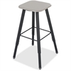 "Safco Alpha Better Adjustable Height Stool - Black - Wood - 15.3"" Width x 19.3"" Depth x 35"" Height"