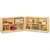 "Jonti-Craft Mobile Fold-n-Lock Open Shelf Unit - 29.5"" Height x 96"" Width x 15"" Depth - Floor - White, Wood Grain - Baltic Birch Plywood - 2 / Each"