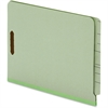 "Pendaflex End Tab Pressboard Folder with Fastener - Letter - 8 1/2"" x 11"" Sheet Size - 2 Fastener(s) - 2"" Fastener Capacity for Folder - 25 pt. Folder Thickness - Pressboard - Light Green - 25 / Box"