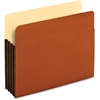 "Pendaflex Tyvek File Pocket - Letter - 8 1/2"" x 11"" Sheet Size - 800 Sheet Capacity - 3 1/2"" Expansion - Top Tab Location - 12.5 pt. Folder Thickness - Redrope - Brown - 10 / Box"