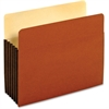 "Pendaflex Tyvek File Pocket - Letter - 8 1/2"" x 11 1/2"" Sheet Size - 1200 Sheet Capacity - 5 1/4"" Expansion - Top Tab Location - 12.5 pt. Folder Thickness - Redrope - Brown - 10 / Box"