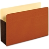 "Pendaflex Tyvek File Pocket - Legal - 8 1/2"" x 14"" Sheet Size - 1200 Sheet Capacity - 5 1/4"" Expansion - Top Tab Location - 12.5 pt. Folder Thickness - Redrope - Brown - 10 / Box"