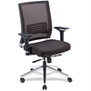 "Lorell Lower Back Swivel Executive Chair - Fabric Black Seat - 5-star Base - Black - 28.5"" Width x 28.3"" Depth x 43.5"" Height"