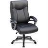 "Lorell High Back Executive Chair - Leather Black Seat - 5-star Base - 27"" Width x 30"" Depth x 46.5"" Height"