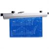 "Lorell Hanging Clamp - 24"" Length - 1"" Size Capacity - 100 Sheet Capacity - 6 / Box - Satin - Aluminum"