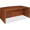 "Lorell Essentials Bowfront Desk Shell - 70.9"" x 41.6"" x 29.5"" - Finish: Cherry, Laminate"