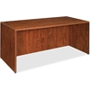 "Lorell Essentials Rectangular Desk Shell - 66.1"" x 29.5"" x 29.5"" - Finish: Cherry, Laminate"