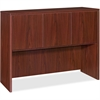 "Lorell Essentials Hutch with Doors - 47.3"" x 14.8"" x 36"" - Drawer(s)3 Door(s) - Finish: Laminate, Mahogany"