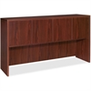"Lorell Essentials Hutch with Doors - 66.1"" x 14.8"" x 36"" - Drawer(s)4 Door(s) - Finish: Laminate, Mahogany"