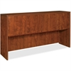 "Lorell Essentials Hutch with Doors - 66.1"" x 14.8"" x 36"" - Finish: Cherry, Laminate"