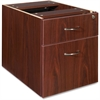 "Essentials Pedestal - 15.5"" x 21.9"" x 18.9"" - 2 x Box Drawer(s), File Drawer(s) - Double Pedestal - Finish: Laminate, Mahogany"