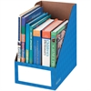 "Bankers Box 8"" Magazine File Holders - Blue - 3 / Pack"