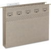 """TUFF® Hanging Box Bottom Folders with Easy Slide™ Tab - Letter - 8 1/2"""" x 11"""" Sheet Size - 2"""" Expansion - Top Tab Location - 14 pt. Folder Thickness - Steel Gray - Recycled - 18 / Box"""