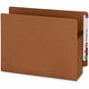 """Smead Extra Wide 100% Recycled End Tab Redrope Pockets - Letter - 8 1/2"""" x 11"""" Sheet Size - 3 1/2"""" Expansion - Redrope - Redrope - Recycled - 25 / Box"""