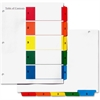 """Simon Index Tab - Print-on, Printed 1-5 - 11"""" Tab Height x 8.50"""" Tab Width - Multicolor - 5 / Set"""