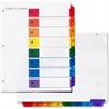"""Simon Index Tab - Print-on, Printed 1-8 - 11"""" Tab Height x 8.50"""" Tab Width - Multicolor - 8 / Set"""