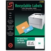 "Simon Recyclable Address Label - 1.33"" Width x 4"" Length - 14 / Sheet - Rectangle - Laser, Inkjet - White - 1400 / Pack"