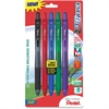 Pentel EnerGel-X Retractable Liquid Gel Pen - Medium Point Type - 0.7 mm Point Size - Refillable - Assorted Gel-based Ink - Assorted Barrel - 5 / Pack