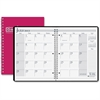 "House of Doolittle Academic Planner - Monthly - 1.2 Year - July 2016 till August 2017 - 1 Month Double Page Layout - 8.50"" x 11"" - Wire Bound - Red - Leatherette, Paper"