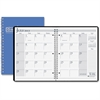"House of Doolittle Academic Planner - Monthly - 1.2 Year - July 2016 till August 2017 - 1 Month Double Page Layout - 8.50"" x 11"" - Wire Bound - Blue - Leatherette, Paper"