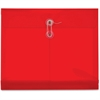 "Pendaflex String Tie Translucent Envelope - Letter - 8 1/2"" x 11"" Sheet Size - 1 1/4"" Expansion - Polypropylene - Red - 5 / Pack"