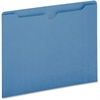 "Pendaflex Colored File Jacket - Letter - 8 1/2"" x 11"" Sheet Size - 50 Sheet Capacity - 11 pt. Folder Thickness - Blue - 100 / Box"