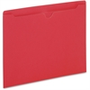 "Pendaflex Colored File Jacket - Letter - 8 1/2"" x 11"" Sheet Size - 50 Sheet Capacity - 11 pt. Folder Thickness - Red - 100 / Box"