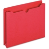 """Pendaflex Colored File Jacket - Letter - 8 1/2"""" x 11"""" Sheet Size - 400 Sheet Capacity - 2 1/2"""" Expansion - 11 pt. Folder Thickness - Red - 50 / Box"""