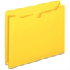 "Pendaflex Colored File Jacket - Letter - 8 1/2"" x 11"" Sheet Size - 400 Sheet Capacity - 2"" Expansion - 11 pt. Folder Thickness - Yellow - 50 / Box"