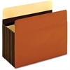"Pendaflex Heavy Duty Pocket - Letter - 8 1/2"" x 11"" Sheet Size - 1600 Sheet Capacity - 7"" Expansion - 24 pt. Folder Thickness - Redrope - Brown - 5 / Box"