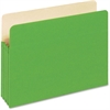 "Pendaflex Colored File Pocket - Letter - 8 1/2"" x 11"" Sheet Size - 875 Sheet Capacity - 3 1/2"" Expansion - Top Tab Location - 9 pt. Folder Thickness - Tyvek, Card Stock - Green - 1 / Each"
