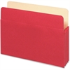 "Pendaflex Colored File Pocket - Letter - 8 1/2"" x 11"" Sheet Size - 1100 Sheet Capacity - 5 1/4"" Expansion - Top Tab Location - Tyvek, Card Stock - Red - 1 Each"