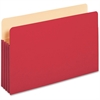 "Pendaflex Colored File Pocket - Legal - 8 1/2"" x 14"" Sheet Size - 1100 Sheet Capacity - 5 1/4"" Expansion - Top Tab Location - Paper, Card Stock - Red - 1 Each"