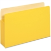 "Pendaflex Colored File Pocket - Legal - 8 1/2"" x 14"" Sheet Size - 1100 Sheet Capacity - 5 1/4"" Expansion - Card Stock - Yellow - 1 Each"