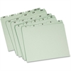 "Pendaflex Vertical Guide - Letter - 8 1/2"" x 11"" Sheet Size - 1/5 Tab Cut - Assorted Position Tab Location - 25 pt. Folder Thickness - Pressboard - Light Green - 30 / Set"