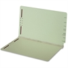 "Pendaflex End Tab Pressboard Folder with Fastener - Legal - 8 1/2"" x 14"" Sheet Size - 2"" Expansion - 2 Fastener(s) - 2"" Fastener Capacity for Folder - 25 pt. Folder Thickness - Pressboard - Light Gree"