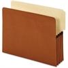 "Pendaflex End Tab Pocket - Letter - 8 1/2"" x 11"" Sheet Size - 800 Sheet Capacity - 3 1/2"" Expansion - 2/5 Tab Cut - 24 pt. Folder Thickness - Redrope - Brown - 10 / Box"