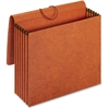 "Pendaflex Recycled Expanding Wallet - Letter - 8 1/2"" x 11"" Sheet Size - 12000 Sheet Capacity - 5 1/4"" Expansion - Redrope - Brown - 1 / Each"