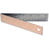 "Helix Folding Ruler - 12"" Length - 1/16 Graduations - Metric, Imperial Measuring System - Stainless Steel - 1 Each"